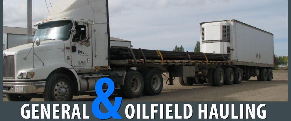 Semi Truck Hauling Two Trailers \ General & Oilfield Hauling